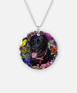 Abby the Black Labrador in F Necklace