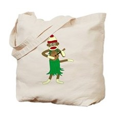 Sock Monkey Ukulele Hula Tote Bag
