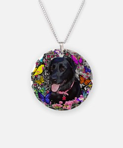 Abby the Black Labrador in B Necklace