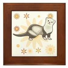 Sable Panda Ferret Framed Tile