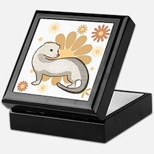 White Marked Ferret Keepsake Box