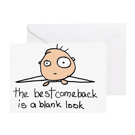 The Blank Look Greeting Card