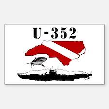 U-352 Rectangle Decal