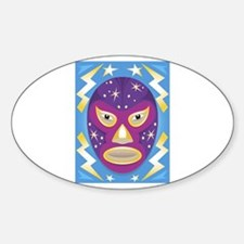 Luche Libre Star Man Oval Decal