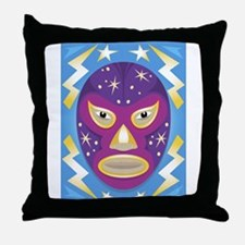 Luche Libre Star Man Throw Pillow