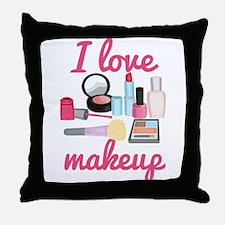 I love makeup Throw Pillow