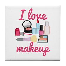 I love makeup Tile Coaster