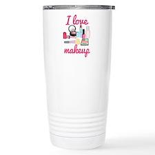I love makeup Travel Mug