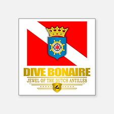 """Dive Bonaire Square Sticker 3"""" x 3"""""""