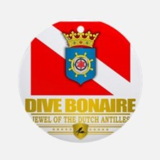 Dive Bonaire Round Ornament