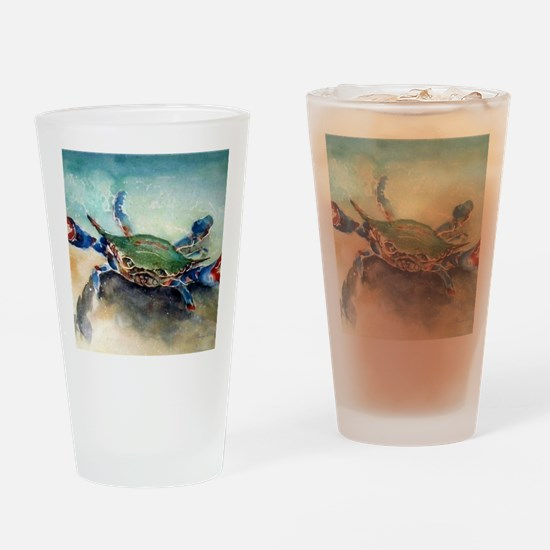The Blue Crab Drinking Glass