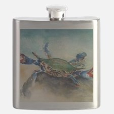 The Blue Crab Flask
