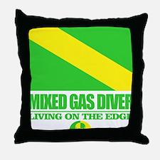Mixed Gas Diver Throw Pillow