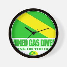 Mixed Gas Diver Wall Clock