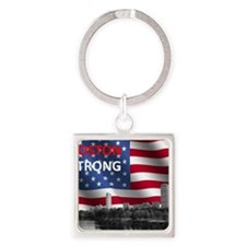 Boston Strong Square Keychain
