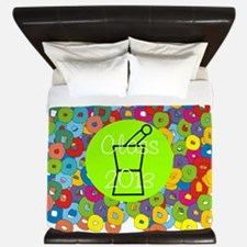 pharmacist grad abstract 2 King Duvet