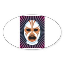 Luche Libre Mystery Oval Decal