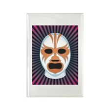 Luche Libre Mystery Rectangle Magnet