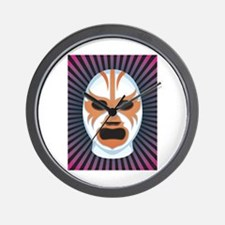 Luche Libre Mystery Wall Clock