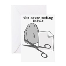 The Never Ending Battle Greeting Card