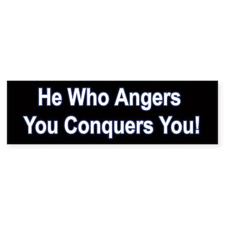 Anger/Conquer Bumper Sticker