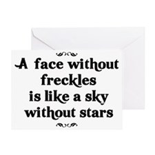A face without freckles is like a sk Greeting Card
