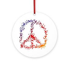 Rubber Duck Peace Round Ornament