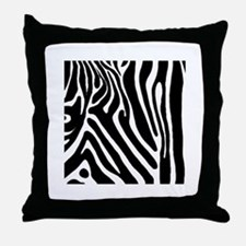 Zebra Print Square Throw Pillow