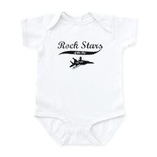 Cute F 15 eagle Infant Bodysuit