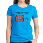 Protect Your ASSets Women's Aqua Blue T-Shirt