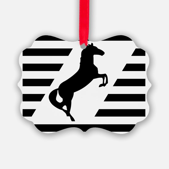 Norfolk and Southern thoroughbred Ornament