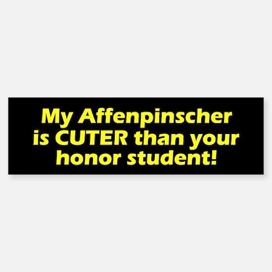 Cuter Affenpinscher Bumper Bumper Bumper Sticker