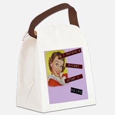 Kitschy Grammar Lady Canvas Lunch Bag