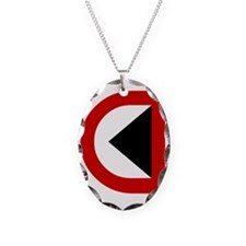 CP Rail Canadian Pacific Railr Necklace Oval Charm