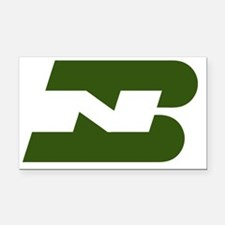 Burlington Northern railroad Rectangle Car Magnet