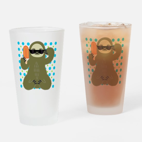 Ice Cold Slothsicle Drinking Glass