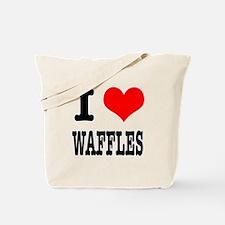 I Heart (Love) Waffles Tote Bag
