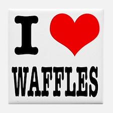 I Heart (Love) Waffles Tile Coaster
