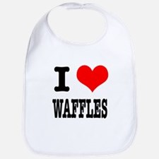 I Heart (Love) Waffles Bib