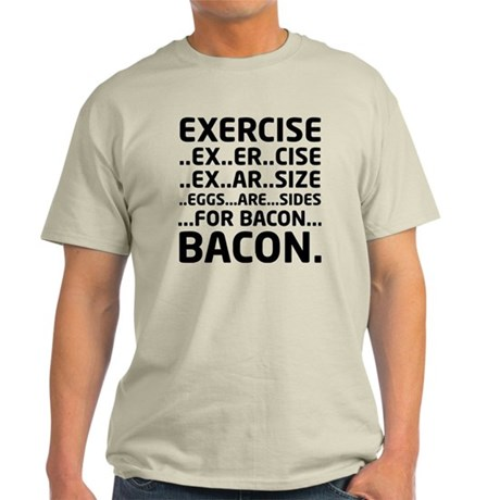 Bacon Logical Deduction Light T-Shirt