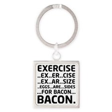 Bacon Logical Deduction Square Keychain