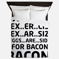 Bacon Logical Deduction Queen Duvet