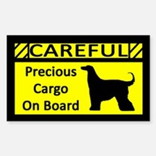 Precious Cargo Afghan Hound Rectangle Decal