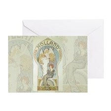 Art Nouveau Angel and Mother Greeting Card