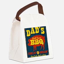 Vintage metal sign - Dad's BBQ -  Canvas Lunch Bag
