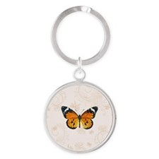 Monarch Round Keychain