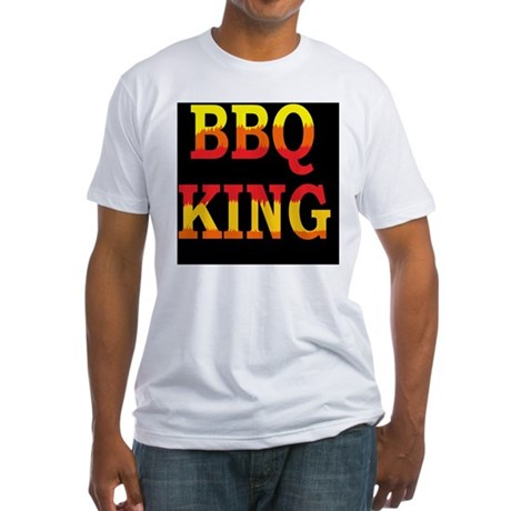 bbq KING DARK BUTTON Fitted T-Shirt