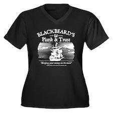 Plank & Trust Women's Plus Size V-Neck Dark T-Shir