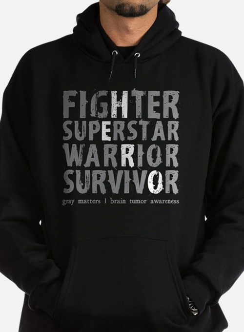 Hero Brain Tumor Survivor Hoodie (dark)