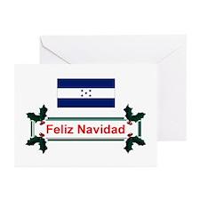 Honduras Feliz Navidad Greeting Cards (Pkg 10)